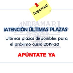 Últimas plazas disponibles para el próximo curso 2018-2019